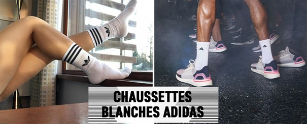 Chaussette adidas blanche